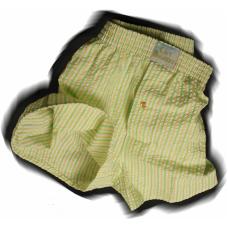 Green/Yellow Stripe Seersucker
