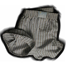Blue/Dark Grey Stripe Seersucker