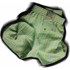 Green/Turquoise Stripe Seersucker